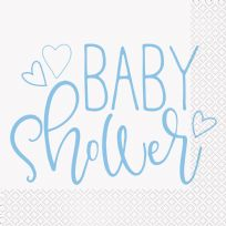 Blue Hearts Baby Shower Napkins (16)
